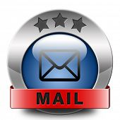 mail icon email mailbox button post letter