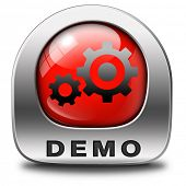 Demo icon download button for free trial demonstration