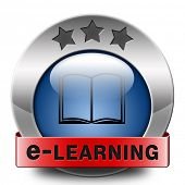 e-learning online education  internet learning in open school or university virtual tutorial elearning icon button or sign