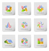 An illustration of colorful design elements on post its.