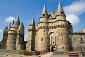 Medieval Castle In VitrÃ, Brittany, France poster
