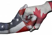 Handshake Between United States And Canada