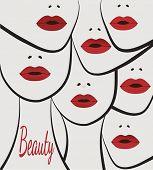 beauty faces women lips