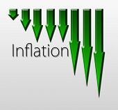 picture of macroeconomics  - Chart illustrating inflation drop macroeconomic indicator concept - JPG