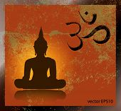 picture of mantra  - Buddha and om symbol - JPG