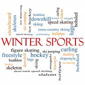 Winter Sports Word Cloud Concept