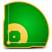 detailed illustration of a baseball field, eps10 vector