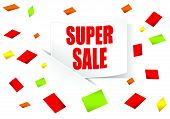 Super sale sticker with rounded corner