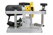 grinder machine for sharpening disk sharpening under the white background