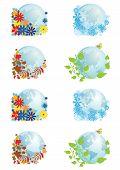 Set Of Globes Four Seasons