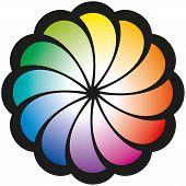 Rainbow Spiral Flower