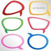 Colorful 3d Speech Bubbles - Vector EPS10