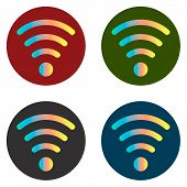 Wi-fi Icon Stickers