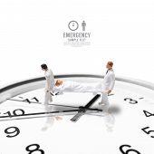 Male Nurse Miniature Figure Concept Health Emergency