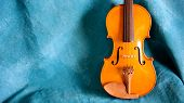 Violin Body Againt Blue