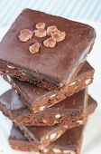chocolate coated brownies