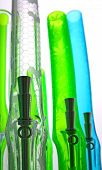 picture of bong  - coloured glass water hookah for smoking tabacco