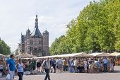 The Deventer book market in the Netherlands on august 3 2014