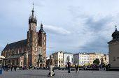 St.mary's Church In Historical Center Of Krakow.