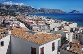 Aerial view of Altea, Spain