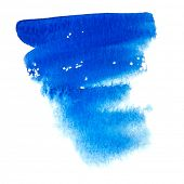 Abstract watercolor brush with good paper texture.