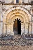 Main Door Of Petit Palais Et Cornemp Romanesque Church Gironde France