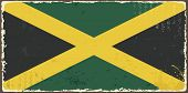 Jamaican grunge flag. Vector illustration
