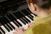 Piano Playing Child