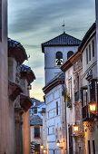 Walking Street Church Iglesia Durante Albaicin Granada Anadalusia Spain
