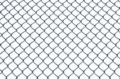Chain Link Fence With Clipping Path