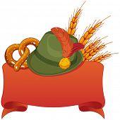 Oktoberfest celebration design with Bavarian hat