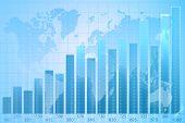 World Map. business chart graph.