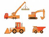 Construction cars | Set 1