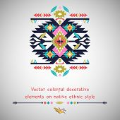 Vector decorative  element  on native ethnic style