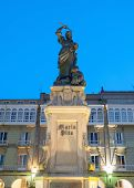 Постер, плакат: Monument To Maria Pita In La Coruna Spain