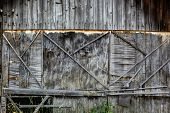 Old Weathered Plywood Wall.