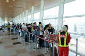 KUCHING - MAY 06: airport interior on May 06, 2014 in Kuching, Malaysia. Kuching International Airpo
