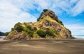 Mighty Lion Rock on the Piha beach near Auckland, New Zealand