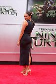 LOS ANGELES - AUG 3:  Tia Mowry at the Teenage Mutant Ninja Turtles Premiere at the Village Theater on August 3, 2014 in Westwood, CA