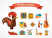 Portugal -  vector icons and illustration, tourism and travel concept