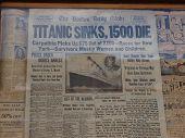 Titanic Sinks Headline