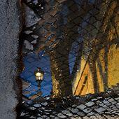 Reflection on street