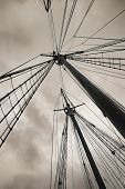 Old Boat Masts