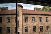 View From A Window In Auschwitz Camp Ii, Extermination Camp In Poland