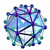 3D rendering of a C60 buckyball
