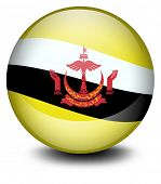 Illustration of a soccer ball with the flag of Brunei on a white background