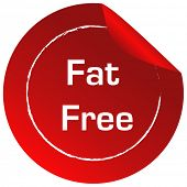 Illustration of a fat free label on a white background