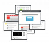 Different browser windows. communication scheme