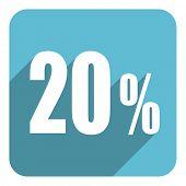 20 percent flat  icon