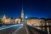 Twilight view of Zurich